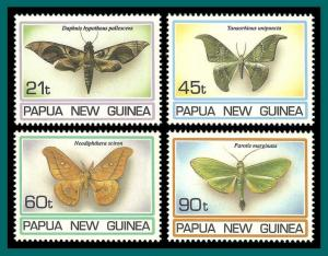 Papua New Guinea 1994 Moths, MNH  846-849,SG741-SG744