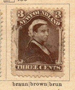 Newfoundland 1887 Early Issue Fine Used 3c. NW-11924