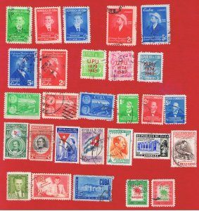 Cuba #438//470  VF used  10 small sets complete   Free S/H
