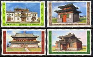 MONGOLIA 1986 ASIAN ARCHITECTURE MINT SET - $3.20 VAL!