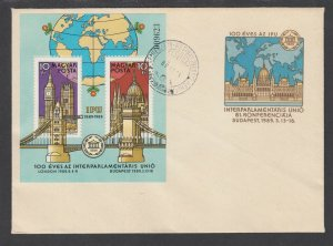 Hungary Sc 3169, C304-C305, CB30a FDC. 1967-89 issues, 3 cplt sets, unaddressed