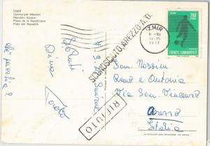 54407 - FOOTBALL - TURKEY -  POSTAL HISTORY:  POSTCARD with SPORT stamp 1977