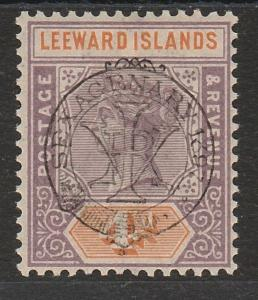 LEEWARD ISLANDS 1897 QV JUBILEE OVERPRINT 4D