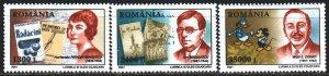 Romania. 2001. 5563-65. Writers and Disney. MNH.