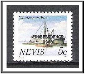 Nevis #169c Landmarks Larger Double Overprint MNH