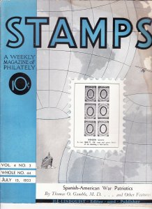 Stamps Weekly Magazine of Philately July 15, 1933 Stamp Collecting Magazine
