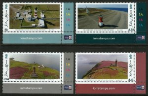 Isle of Man IOM 2018 Lighthouses 4v Set of Stamps unmounted mint MNH