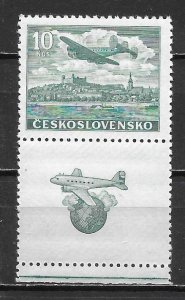 Czechoslovakia C22 10k Plane Tab single MNH