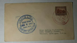 Grace LIne Santa Rosa Maiden Voyage 1933 Pacific Coast NYC Columbia Port 413 SS