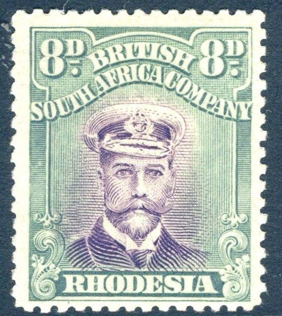 RHODESIA-1919 8d Mauve & Dull Blue-Green Sg 267  LIGHTLY MOUNTED MINT V18577