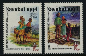 Dominican Republic 1172-3 MNH Christmas, Animals, Intl. Year of the Family