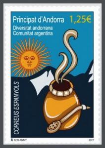 H01 Andorra (Spain) 2017 Argentinian Community MNH Postfrisch