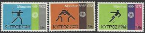 Cyprus #383-385 MNH Full Set of 3
