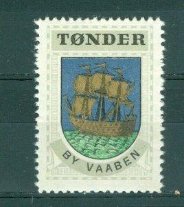Denmark. Poster Stamp 1940/42. Mnh. Town: Tonder. Coats Of Arms. Sail Ship.
