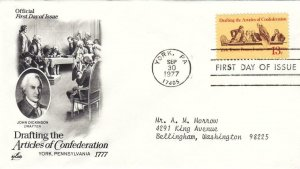 1977, Drafting the Articles of Confederation, Artcraft, FDC (D12682)