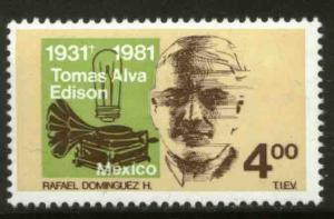 MEXICO 1255 50th Death Anniv of Thomas Alva Edison MINT, NH. F-VF.