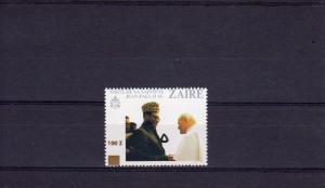 ZAIRE 1990 Pope John-Paul II-P.Mobuto ovpt.100Z Mi.#1003  VERY RARE
