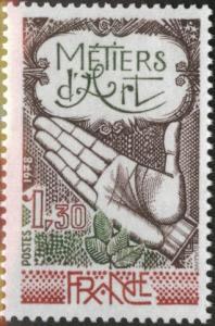 FRANCE Scott 1613 MNH** Handicraft stamp 1978