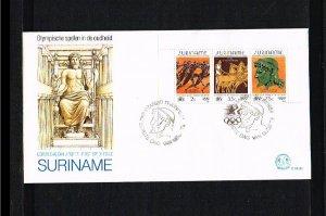 1984 - Rep. Surinam FDC E081D (block) - Sport - Olympics - Los Angeles 84 [LN...