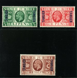 Morocco Agencies 1935 KGV Silver Jubilee set complete MLH. SG 238-240.