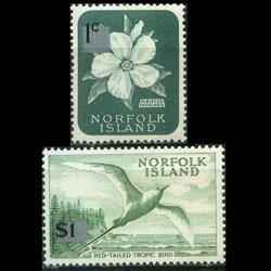 NORFOLK IS. 1966 - Scott# 71a-82a Flora Type II Set of 2 LH