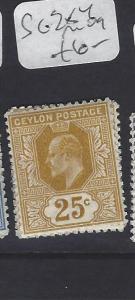 CEYLON  (P3011B)  KE    25C      SG 284      MOG