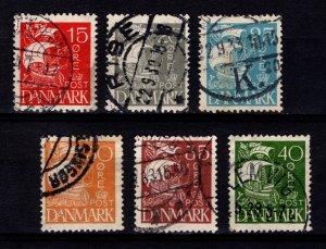 Denmark 1927 Caravel Definitive (solid background) Set [Used]