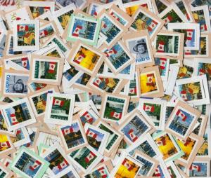Canada UNCANCELLED Used/ Mint face Value FV $250.00 CAD postage stamps 500 X 50c