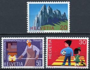 Switzerland #507-509 MNH