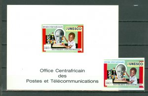 CENTRAL AFRICAN REP. #C90..IMPERF + DELUXE PROOF...MNH...$15.00