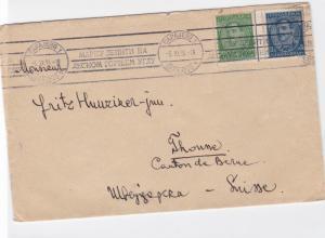 yugoslavia capajebo sarajevo 1934/35  to switzerland stamps cover ref r14924