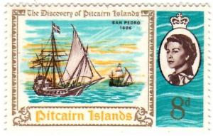 Pitcairn Islands Scott 69 (1967: San Pedro 17th Century Spanish Brigantine)