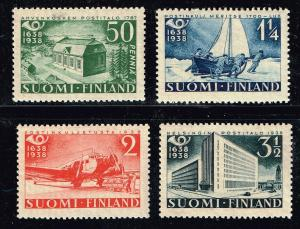 FINLAND STAMP 1938 The 300th anniversary of the Finnish post MH/OG SET