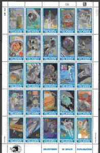 Marshall Islands #345 sheet of 25, F-VF Mint NH ** Space Exploration