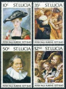St Lucia 434-437,437a,MNH.Michel 427-430. Peter Paul Rubens,400th birth,1977.