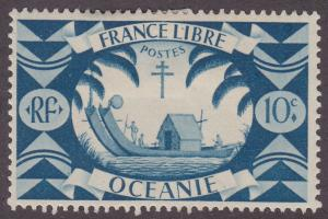 French Polynesia 137 Early Double Canoe 1942