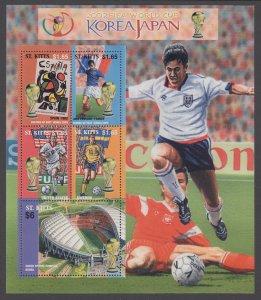 St Kitts 537 Soccer Souvenir Sheet MNH VF