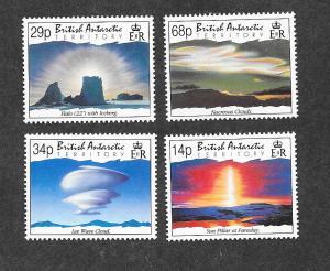 British Antarctic Territory 198-201 Mint NH MNH Clouds!