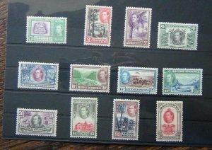 British Honduras 1938 - 1947 set to $5 MM SG150 - SG161
