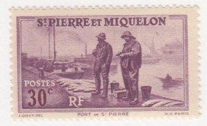 St Pierre & Miquelon, Sc 180, MLH, 1938, Port St. Pierre