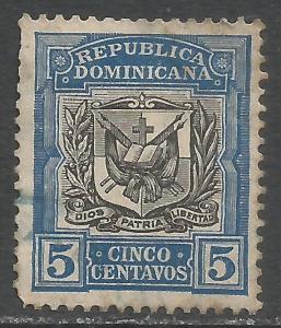 DOMINICAN REPUBLIC 175 VFU ARMS I136-5
