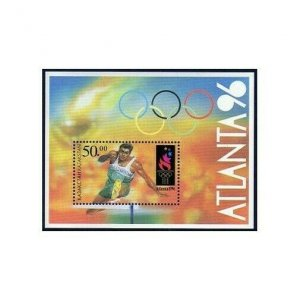 Kazakhstan 149,MNH.Michel 126 Bl.5. Olympics Atlanta 1996.Hurdles.