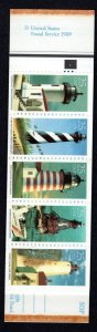 2470-74 - Lighthouses Complete Booklet171 P#4 Four Panes MNH-VF Cat. $49.50