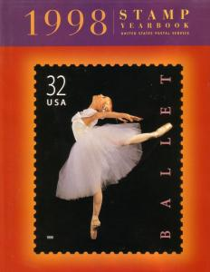 US 1998 Stamp Yearbook hard cover album -No Stamps