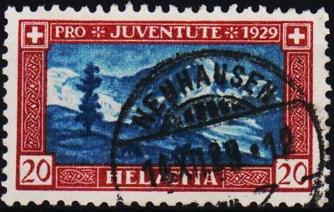 Switzerland.1929 20c S.G.J50 Fine Used