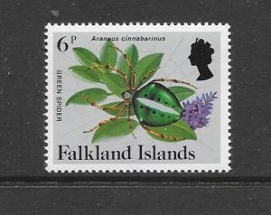 INSECTS - FALKLAND ISLANDS-#392 GREEN SPIDER   MNH