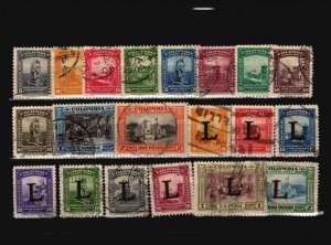 Colombia 20 Used, some faults - C2280