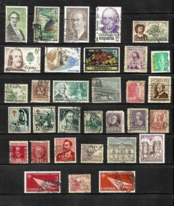 Spain - Nice used lot of 31 stamps