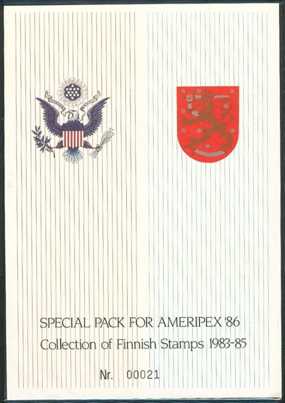 FINLAND AMERIPEX '86 1983-85 Special Year pack
