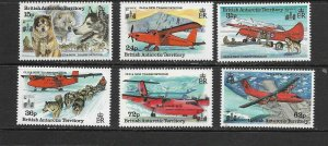 B.A.T. - 1994 OLD AND NEW TRANSPORTATION - SCOTT 218 TO 223 - MNH